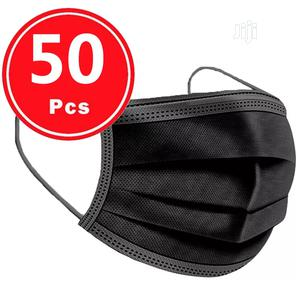 50pc Black 3 Ply Nose Mask | Medical Supplies & Equipment for sale in Rivers State, Port-Harcourt