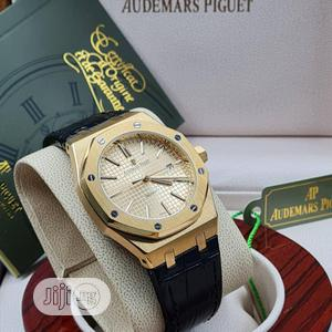 High Quality Audemars Piguet Gold Dial Leather Watch | Watches for sale in Lagos State, Magodo