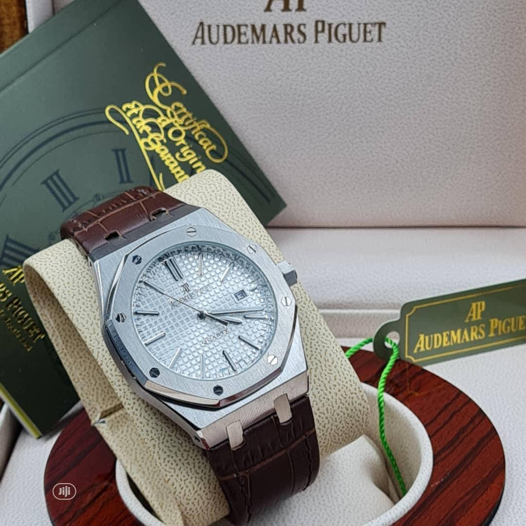 High Quality Audemars Piguet Gold Dial Leather Watch   Watches for sale in Magodo, Lagos State, Nigeria