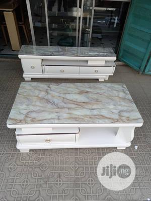 Glass Top Center Table With Adjustable Tv Stand Set | Furniture for sale in Lagos State, Ajah