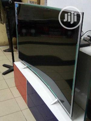 "New Polystar Ultrahd 4K Smart 55""Inch Curved TV Netflix App | TV & DVD Equipment for sale in Lagos State, Ojo"