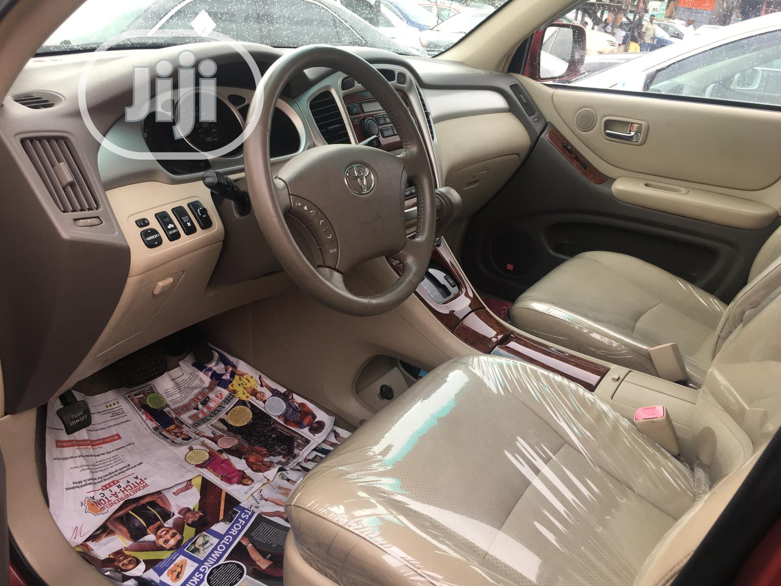 Toyota Highlander 2005 Limited V6 Red   Cars for sale in Apapa, Lagos State, Nigeria