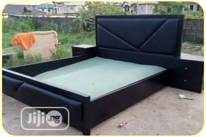 Quality Black 6 by 6 Bed Frame | Furniture for sale in Lagos State, Agege