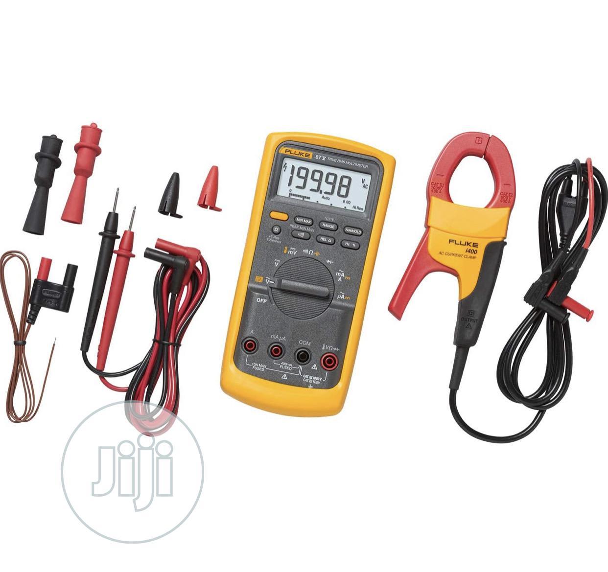 Fluke 87v/Digital Multimeter/Fluke I400 Clamp Meter Combokit