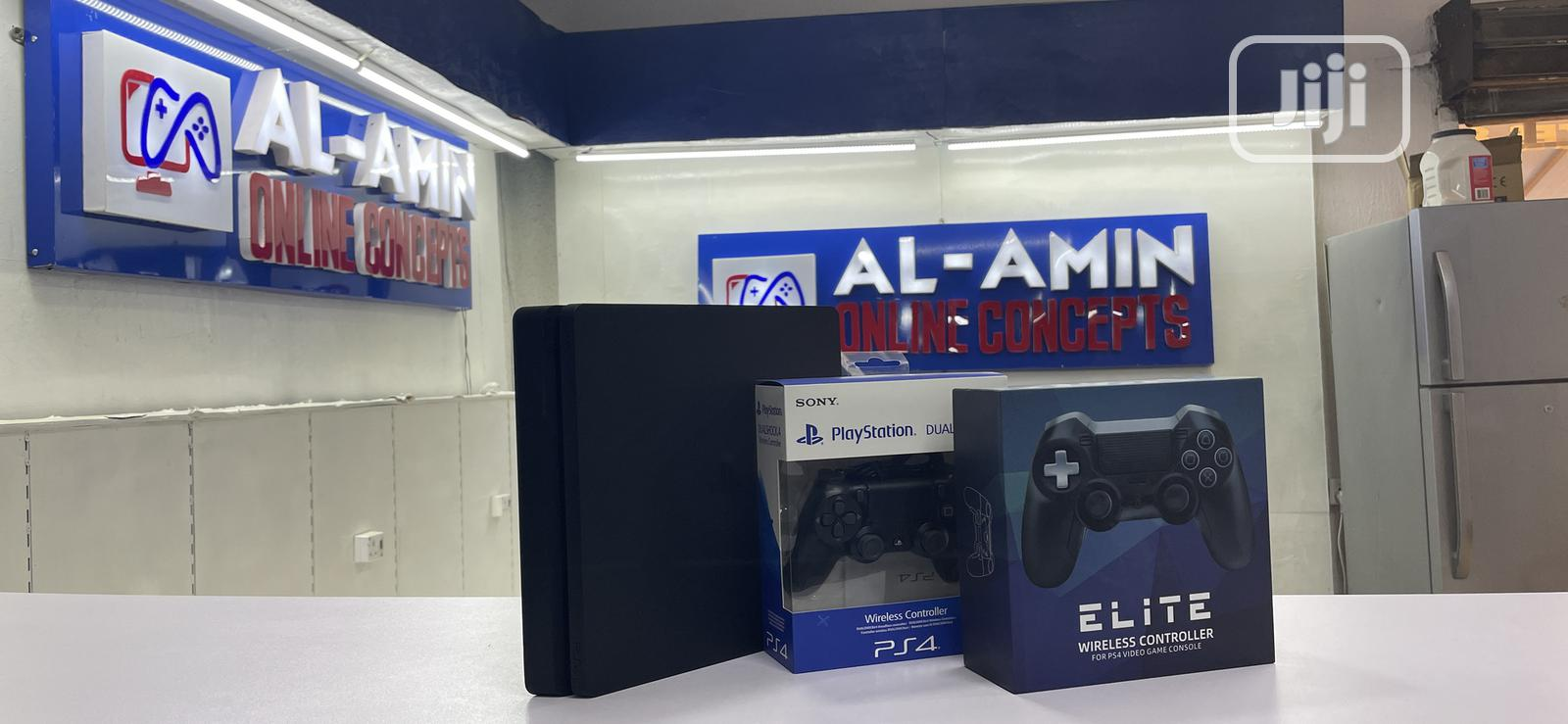 Playstation 4 Slim With 2 Controllers   Video Game Consoles for sale in Ibadan, Oyo State, Nigeria