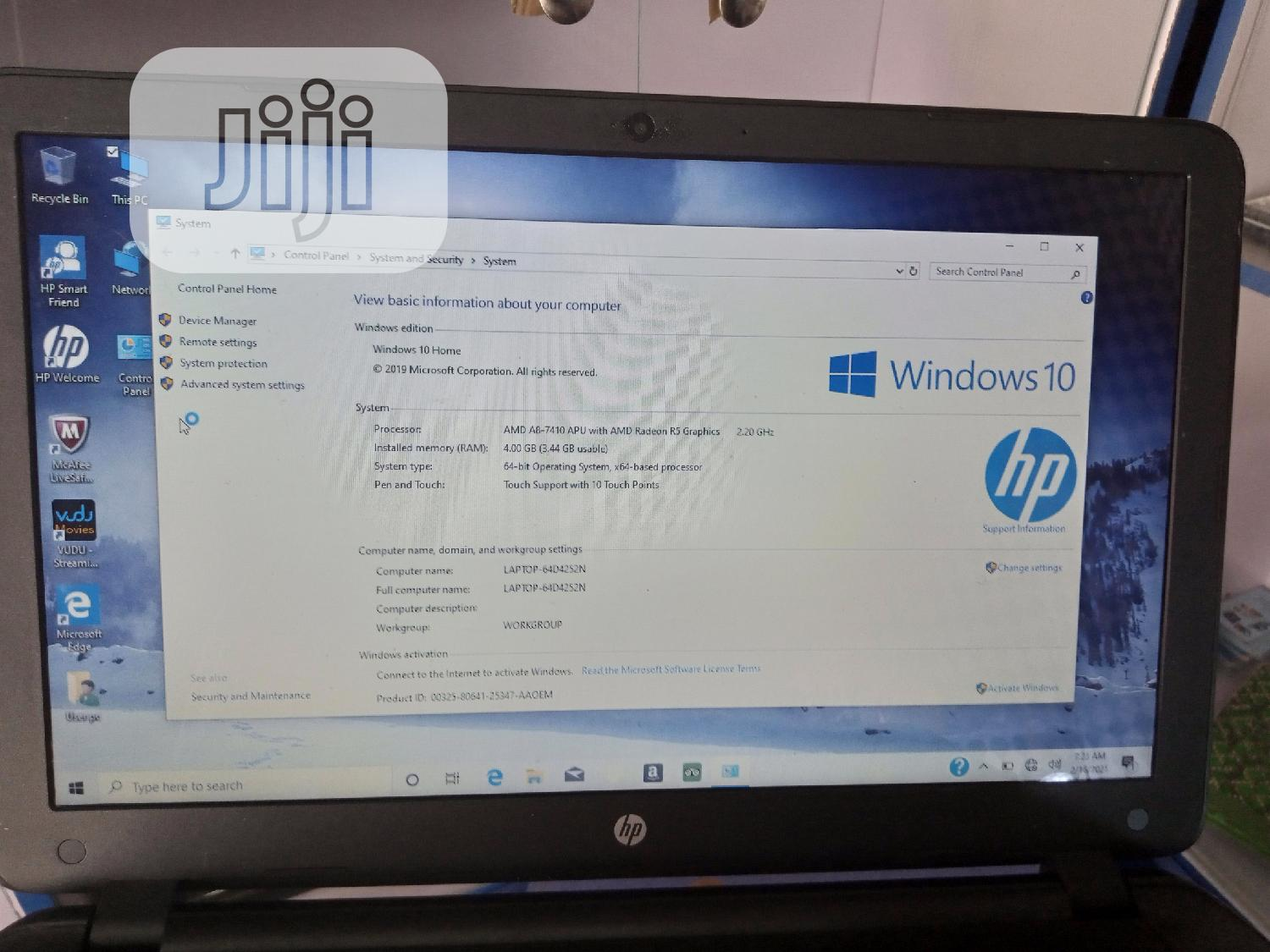 Archive: Laptop HP Pavilion TouchSmarT 15 4GB AMD A8 HDD 500GB
