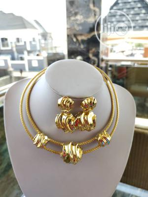 2-Layer Choker Necklace With Earrings | Jewelry for sale in Lagos State, Ojo