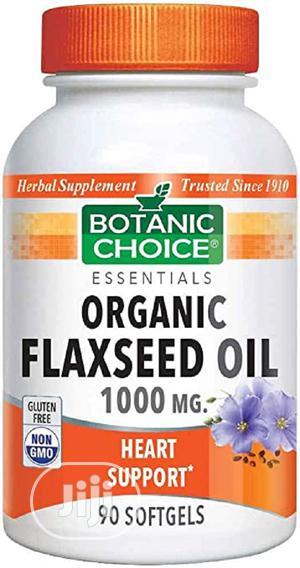 Botanic Choice Flaxseed Oil (Organic) 1000 Mg,90 Softgels   Vitamins & Supplements for sale in Lagos State, Ojo