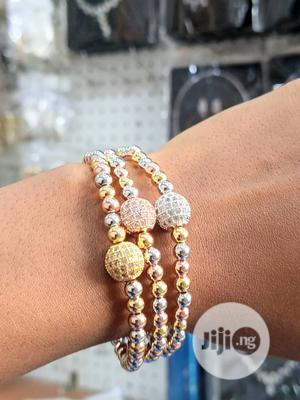 3-Tone Viennois Bangles Set   Jewelry for sale in Lagos State, Ojo