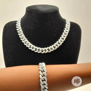 Silver Cuban Chain and Bangle for Men   Jewelry for sale in Enugu State, Enugu