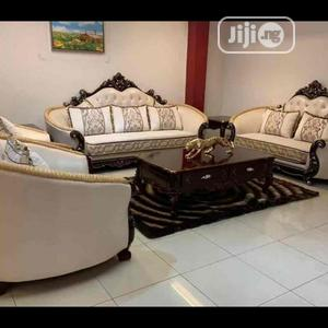 Royal Fabric Sofa Chair With Center Table | Furniture for sale in Lagos State, Ojo