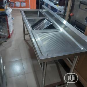 Double Bowl Sink With Side   Restaurant & Catering Equipment for sale in Lagos State, Ajah