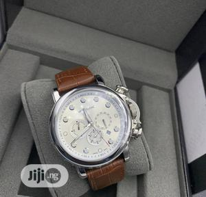 High Quality Montblanc White Dial Leather Watch   Watches for sale in Lagos State, Magodo