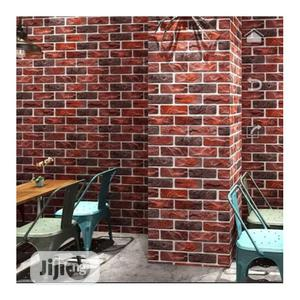 Wallpapers 3D Wood Brick Design Wallpaper - Multi- 5.3 Sqm   Home Accessories for sale in Lagos State, Ikotun/Igando