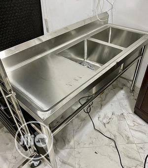 Industrial Kitchen Sink With Side Bench | Kitchen Appliances for sale in Lagos State, Ojo