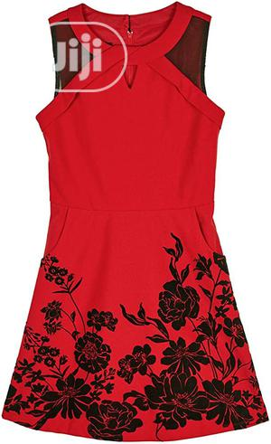 Amy Byer Red Dress With Black Flower Embroidery | Children's Clothing for sale in Lagos State, Alimosho