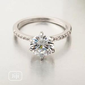 Round Cut Zirconia Diamond Engagement Ring   Wedding Wear & Accessories for sale in Lagos State, Surulere