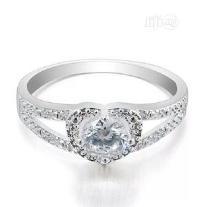 Love Cut Zirconia Diamond Engagement Ring Silver   Wedding Wear & Accessories for sale in Lagos State, Surulere