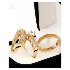 Italian Gold Plated Wedding Ring Set | Wedding Wear & Accessories for sale in Lagos State, Surulere