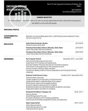 Logistics Transportation CV | Logistics & Transportation CVs for sale in Oyo State, Ibadan