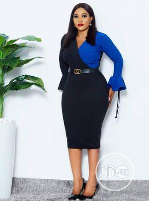Trendy Female Quality Fitted Vneck Gown | Clothing for sale in Lagos State, Ikeja