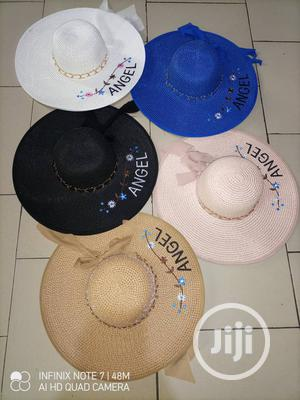 Letters/Flowered Embroidery Straw Hat Large Summer Beach Hat | Clothing Accessories for sale in Lagos State, Alimosho