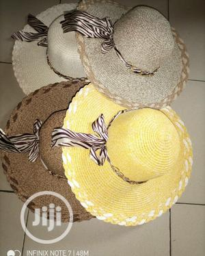Straw Hat Large Brim Summer Beach Sun Hat | Clothing Accessories for sale in Lagos State, Alimosho
