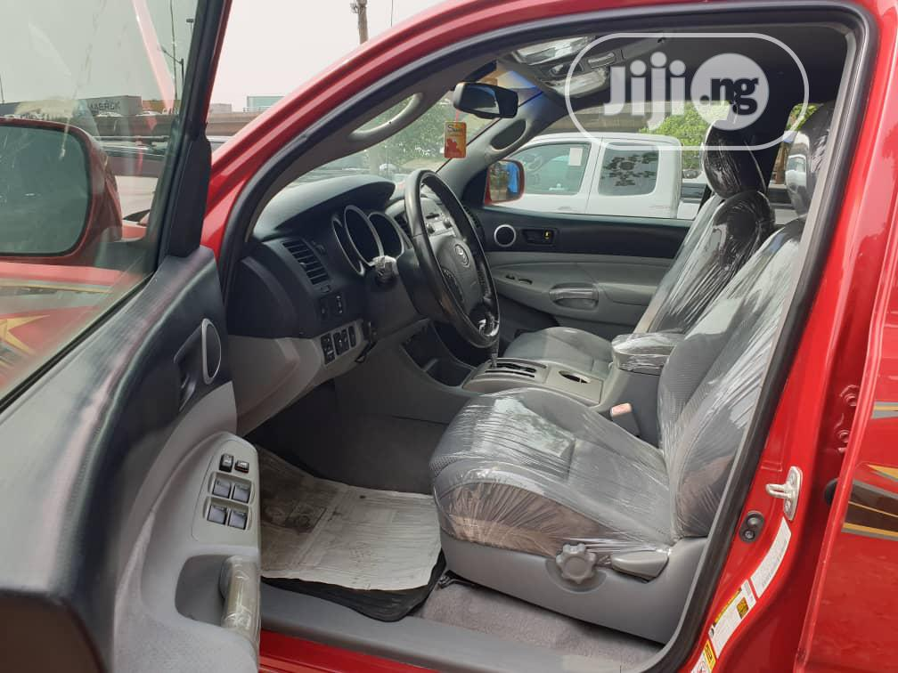 Toyota Tacoma 2009 Double Cab V6 Automatic Red | Cars for sale in Apapa, Lagos State, Nigeria