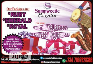 Surprises Package | Party, Catering & Event Services for sale in Oyo State, Ibadan