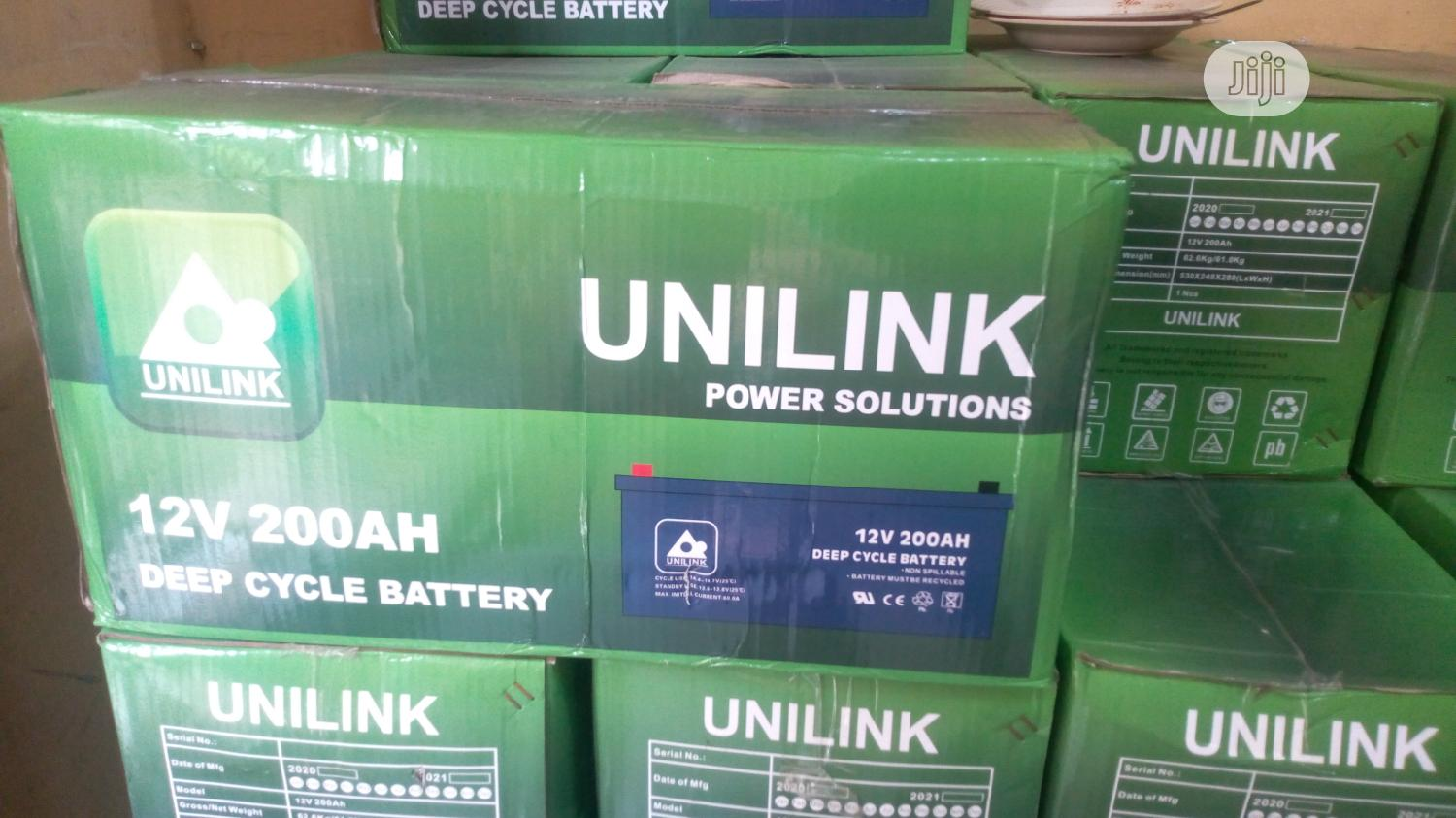 Archive: Unilink 12V 200ah Deep Cycle Battery