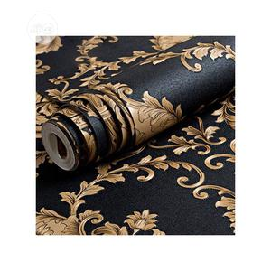 European Luxury Classic Gold and Black Embossed Wallpaper   Home Accessories for sale in Lagos State, Ikotun/Igando