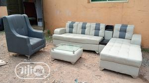 Set of Sofa With Single Chair, Table and Cupholder   Furniture for sale in Lagos State, Amuwo-Odofin