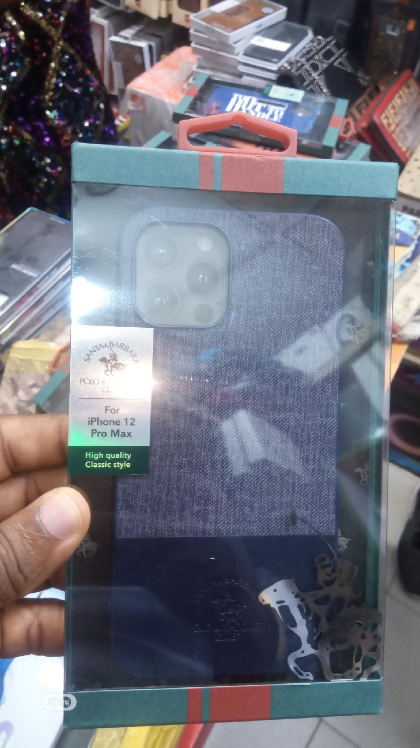 Polo Leather Back Case for iPhone 12 Pro Max | Accessories for Mobile Phones & Tablets for sale in Ikeja, Lagos State, Nigeria