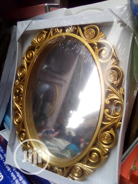 Portable Gold Fancy Wall Mirror