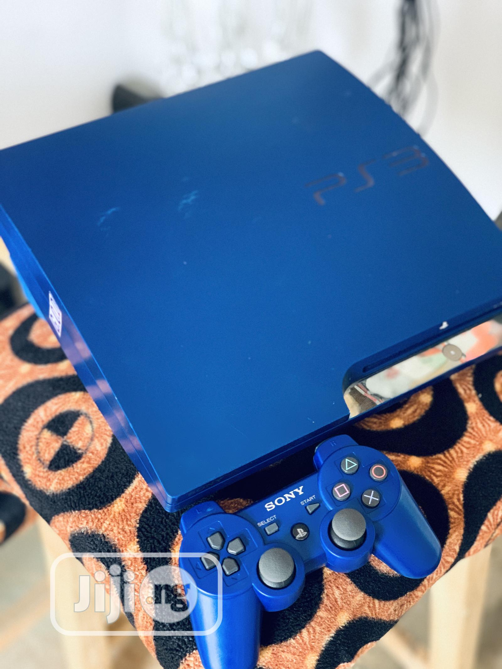 Royal Blue Slim PS3 With 10games