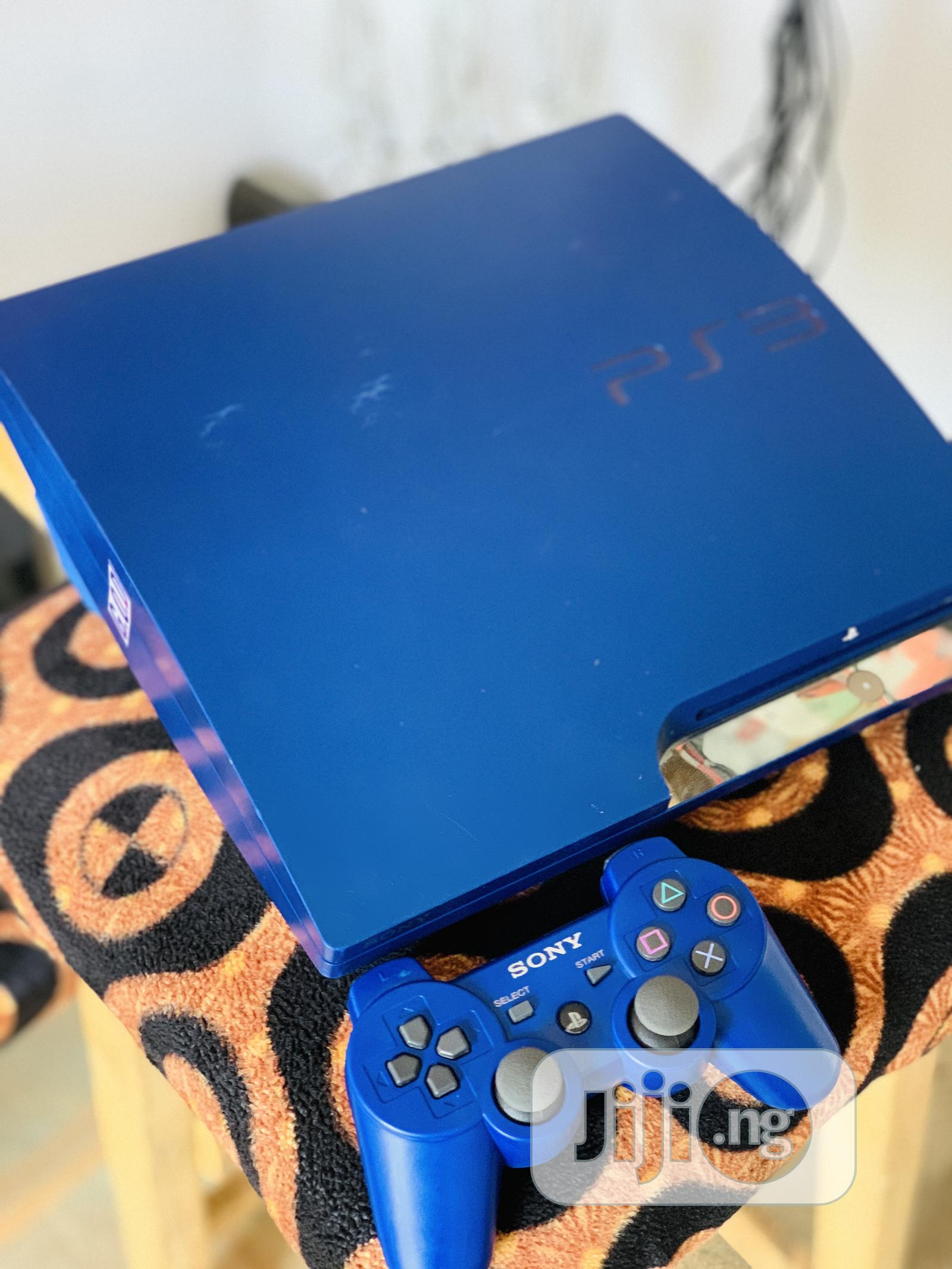 Royal Blue Slim PS3 With 10games   Video Game Consoles for sale in Ibadan, Oyo State, Nigeria