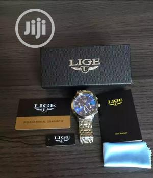 LIGE Chronograph Men Watches Waterproof Full Steel Quartz | Watches for sale in Lagos State, Ikeja