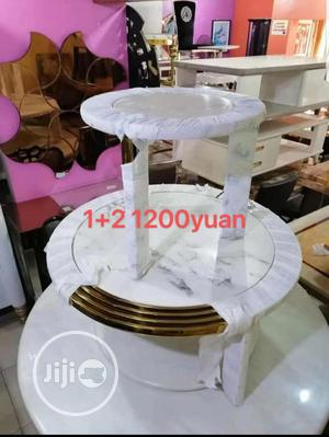 White Center Table and Two Side Stool | Furniture for sale in Lagos State, Surulere