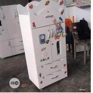Wooden White Baby Wardrobe   Children's Furniture for sale in Lagos State, Ilupeju