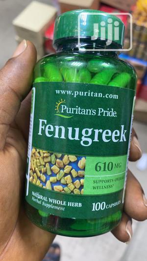 Puritan Pride Fenugreek 610mg- 100 Capsule   Vitamins & Supplements for sale in Lagos State, Amuwo-Odofin