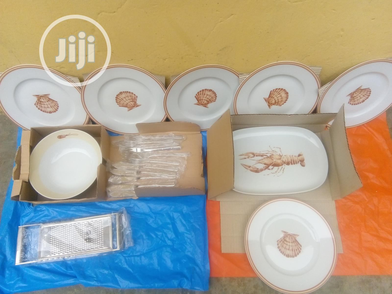 Set of 9 Breakable Plates for Dinning With Cutleries   Kitchen & Dining for sale in Lagos State, Nigeria