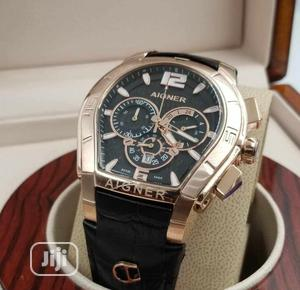 High Quality AIGNER Black Dial Leather Watch   Watches for sale in Lagos State, Magodo