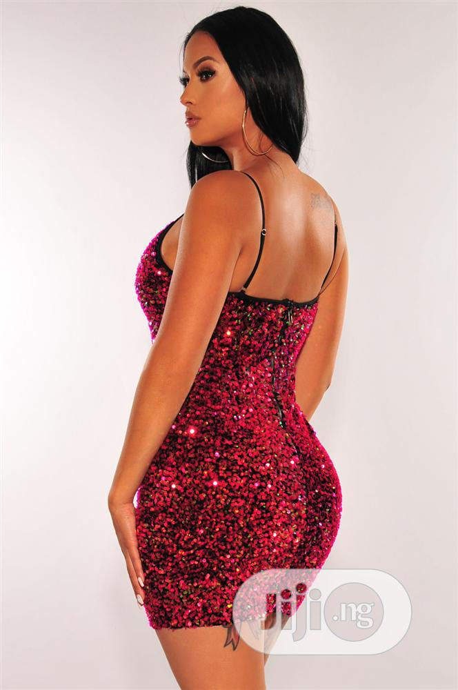 Sexy Sequins Straps Mini Dress | Clothing for sale in Lekki, Lagos State, Nigeria