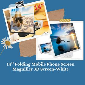 """14"""" Folding Mobile Phone Screen Magnifier 3D Screen-White 