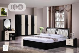 Quality Complete Set of 6 by 6 Bed Frame With Wardrobe   Furniture for sale in Abuja (FCT) State, Central Business District