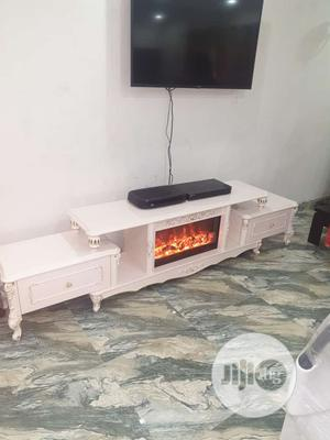 Modern TV Shelve Stand With Fireworks   Furniture for sale in Lagos State, Eko Atlantic