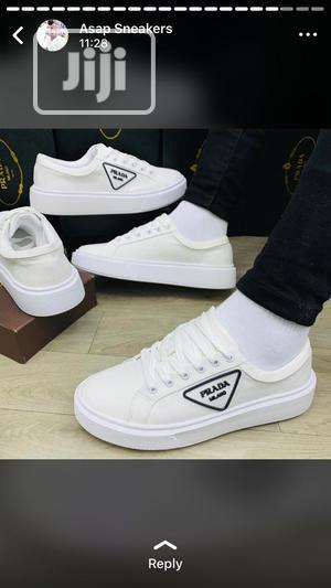 New White Prada Milano Man Sneakers | Shoes for sale in Lagos State, Ikeja