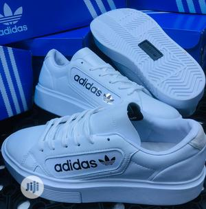 Original White Adidas Man Sneakers | Shoes for sale in Lagos State, Ikeja