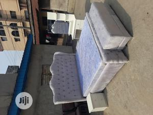 6×6 Upholstery Bed With Quality Mouka Mattres | Furniture for sale in Lagos State, Ojo