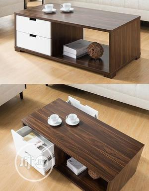 White and Brown Center Table With Drawers | Furniture for sale in Lagos State, Oshodi